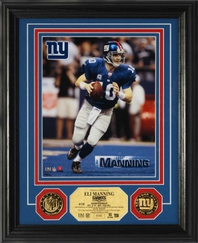 Eli Manning 24KT Gold Coin Photo Mint