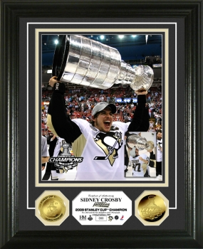 Sidney Crosby 09 Stanley Cup 24KT Gold Coin Photo Mint