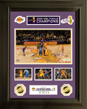Los Angeles Lakers 2009 NBA Champions 24KT Gold Coin Signature Frame