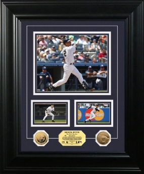 Derek Jeter 24KT Gold Coin Marquee Photo Mint