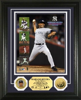 Mariano Rivera 500th Career Save 24KT Gold Coin Photo Mint