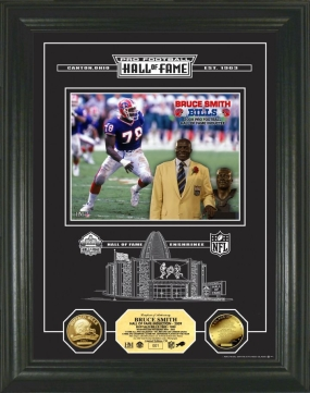 Bruce Smith Archival Etched Glass Hall Of Fame Photo Mint