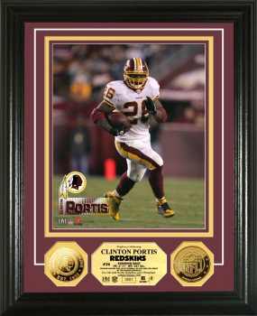 Clinton Portis 24KT Gold Coin Photo Mint