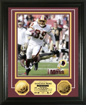 Santana Moss 24KT Gold Coin Photo Mint