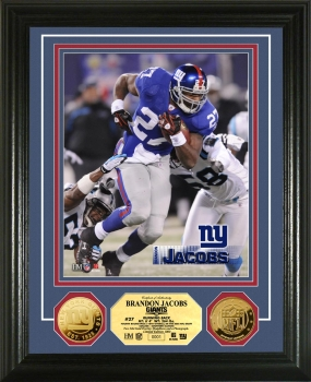 Brandon Jacobs 24KT Gold Coin Photo Mint