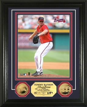 MLB ATL Tommy Hanson 24KT Gold Coin Photo Mint