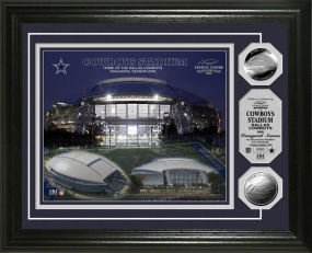 Cowboys Stadium Inaugural Season Silver Coin Photo Mint