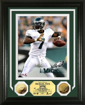 Michael Vick First Game as a Philadelphia Eagle 24KT gold Photo Mint