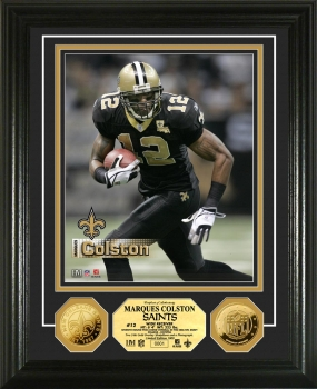 Marques Colston 24KT Gold Coin Photo Mint
