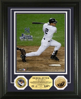 Derek Jeter Yankees 24KT Gold Coin Photo Mint