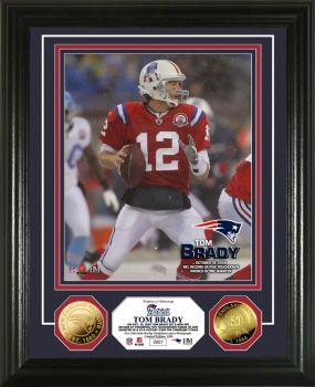 Tom Brady TD Record 24KT Gold Coin Photo Mint