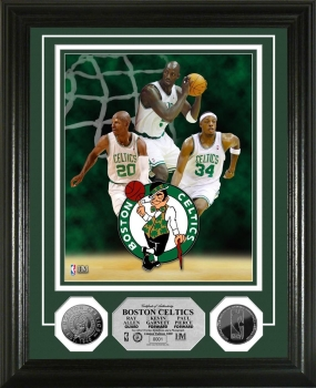 "Boston Celtic ""Big 3"" 24KT Gold Coin  Photo Mint"