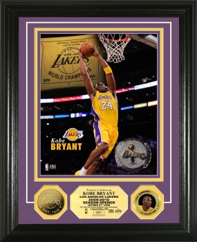 "Kobe Bryant ""Ring Ceremony"" 24KT Gold Coin Photo Mint"