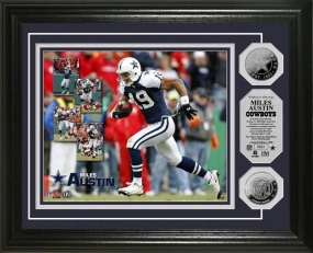 "Miles Austin ""Cowboys' Record Receiver"" Silver Coin Photo Mint"