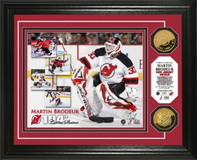 "Martin Brodeur ""NHL Shutout King"" 24KT Gold Coin Photo Mint"