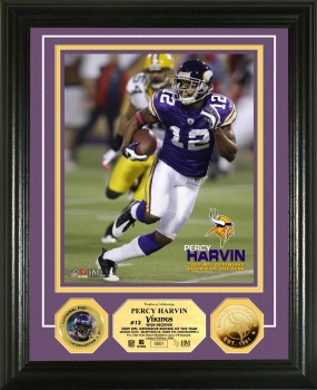 """Percy Harvin """"2009 Offensive Rookie of the Year"""" 24KT Gold Coin Photo Mint"""