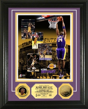 Kobe Bryant Franchise Leading Scorer 24KT Gold Coin Photo Mint