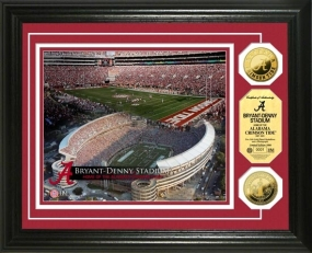 University of Alabama Bryant-Denny Stadium 24KT Gold Coin Photomint