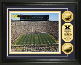 University of Michigan Stadium 24KT Gold Coin Photomint