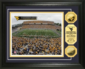 West Virginia University Mountaineer Field 24KT Gold Coin Photomint