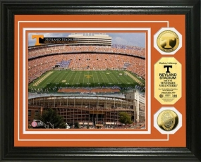 University of Tennessee Neyland Stadium 24KT Gold Coin Photomint