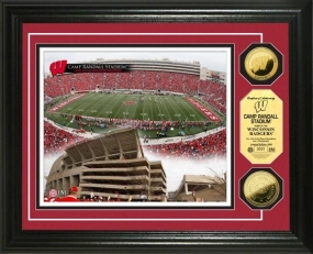 University of Wisconsin Camp Randall Stadium 24KT Gold Coin Photomint