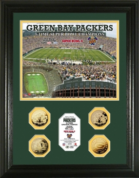 Green Bay Packers 3 Time Super Bowl Champions Photomint