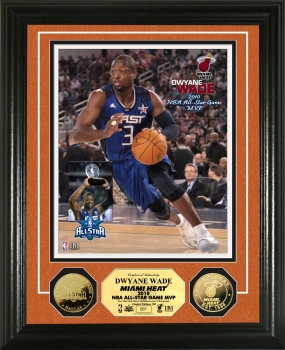 Dwayne Wade NBA All Star Game MVP 24KT Gold Coin Photo Mint