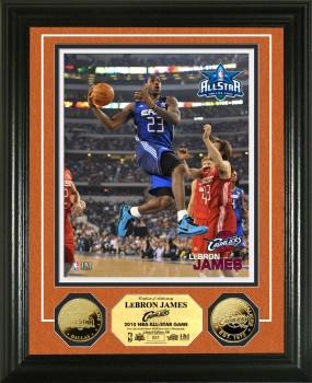 LeBron James NBA All Star Game 24KT Gold Coin Photo Mint