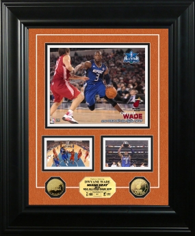 Dwayne Wade NBA All Star Game MVP 24KT Gold Coin Marquee Photo Mint