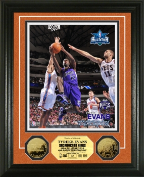 Tyreke Evans Rookie Sophomore Game MVP 24KT Gold Coin Photo Mint