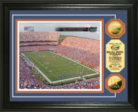 University of Florida Ben Hill Griffin Stadium 24KT Gold Coin Photomint