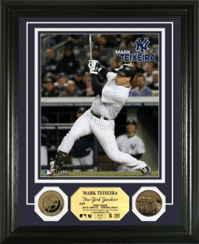 Mark Teixeira 24KT Gold Coin Photo Mint