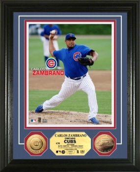 Carlos Zambrano 24KT Gold Coin Photo Mint