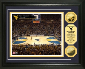 WVU Coliseum 24KT Gold Coin Photo Mint
