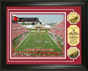 Papa John's Cardinal Stadium 24KT Gold Coin Photomint