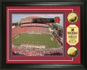University of Maryland Capital One Field at Byrd Stadium 24KT Gold Coin Photomint