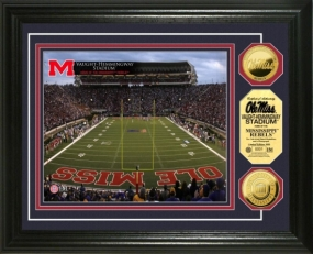 Vaught-Hemmingway Stadium 24KT Gold Coin Photomint