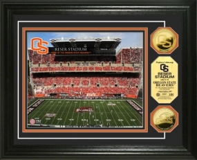 Oregon State University Reser Stadium  24KT Gold Coin Photomint