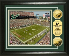 University of South Florida Raymond James Stadium 24KT Gold Coin Photomint