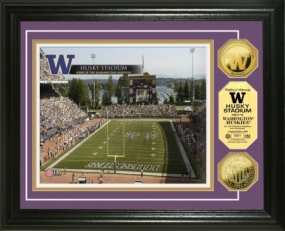 University of Washington Husky Stadium 24KT Gold Coin Photomint