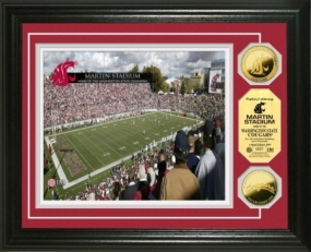 Washington State University Martin Stadium 24KT Gold Coin Photomint