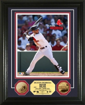 Dustin Pedroia 24KT Gold Coin Photo Mint