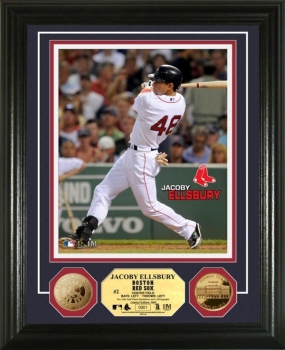 Jacoby Ellsbury 24KT Gold Coin Photo Mint