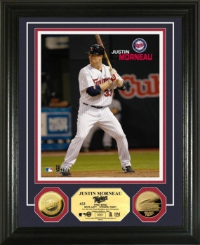Justin Morneau 24KT Gold Coin Photo Mint