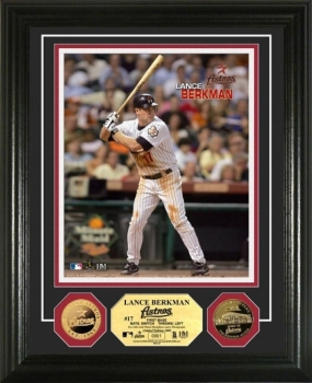Lance Berkman 24KT Gold Coin Photo Mint
