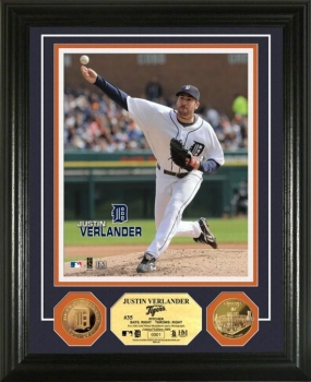 Justin Verlander 24KT Gold Coin Photo Mint