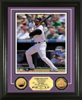 Todd Helton 24KT Gold Coin Photo Mint