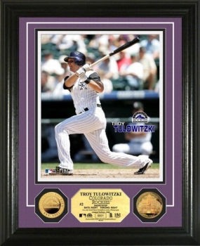 Troy Tulowitzki 24KT Gold Coin Photo Mint
