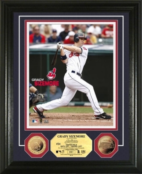 Grady Sizemore 24KT Gold Coin Photo Mint